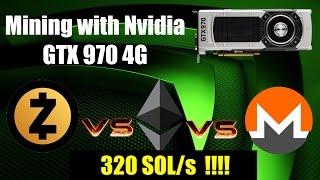 Mining Zcash, Ethereum & Monero with Nvidia GTX 970 4G | Смотри