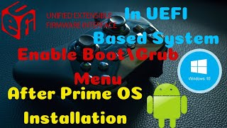 English) Add Boot/Grub Menu In UEFI | Prime OS | Смотри