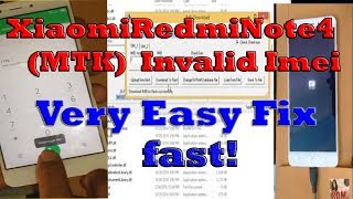 Xiaomi Redmi Note 4 MTK-Invalid Imei Fix,How to Repair Imei Redmi