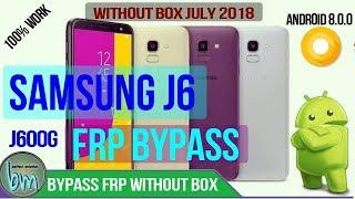 Samsung J6 (J600G) FRP BYPASS WITHOUT BOX 2018 Latest Patch Talkback