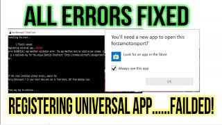 FORZA Motorsport 7 - All ERRORS FIXED {Registering Universal