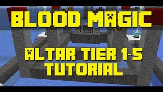 Minecraft Blood Magic Mod - Altar Tier 1 - 5 Building