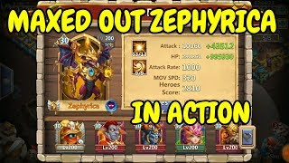 Zephyrica l Maxed Out In Action l Castle Clash | Смотри онлайн или
