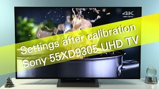 Sony 55DX9305 XD93 TV picture settings after calibration | Смотри