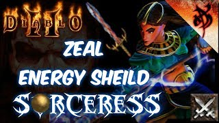 Zeal Energy Shield Sorceress Build - Diablo 2 | Смотри