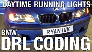 BMW E46 DRL Coding Options Daytime Running Lights | Смотри онлайн