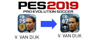Pes 2019 Mobile All GOLD to BLACK Ball Player Upgraded Ratings by