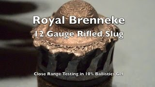Ammo Test! 12 Gauge Rifled Foster Slug - Royal Brenneke