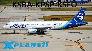 X-Plane 11 | Palm Springs!! | A320 | PilotEdge | Santa Barbara, Palm
