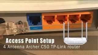 Setup access point mode on TP-Link 4 antenna - Archer C50 | Смотри