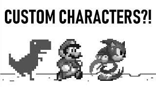 Google Dinosaur Game Custom Characters Tutorial | Смотри онлайн или