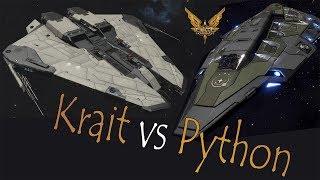 Elite:Dangerous  Krait Mk II vs Python | Смотри онлайн или